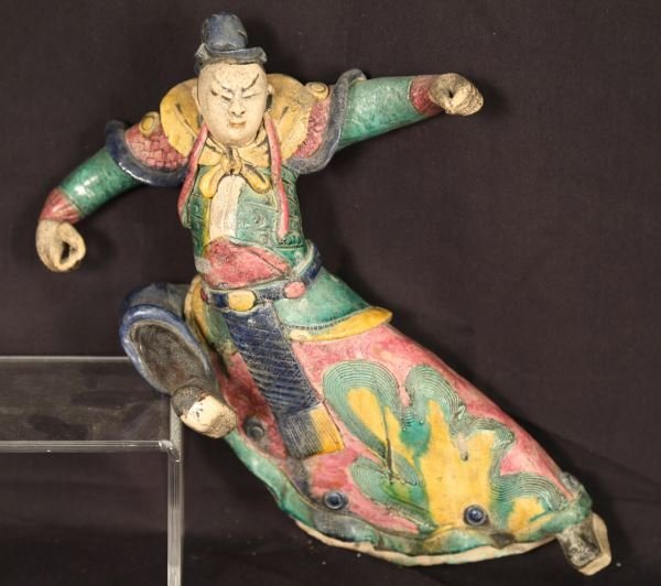 ANTIQUE CHINESE ROOF TILE FIGURE
