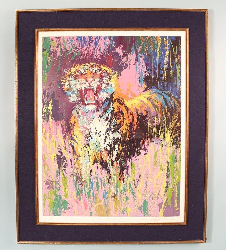 "LEROY NEIMAN ""TIGER"" LITHO #291/300"