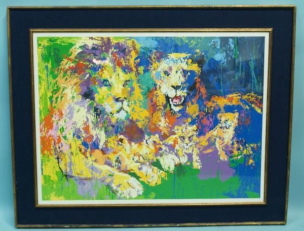 "LEROY NEIMAN ""LION & LIONESS"" LITHO #139/300"