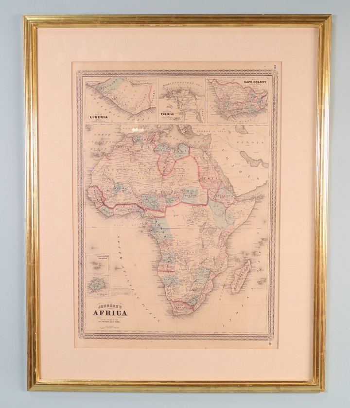 A. J. JOHNSON'S MAP OF AFRICA