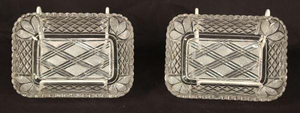 PAIR OF 19th CENTURY AMERICAN BRILLILANT CUT GLASS