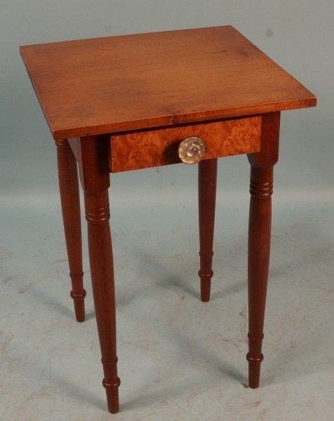 AMERICAN CHERRY SIDE TABLE, CIRCA 1820