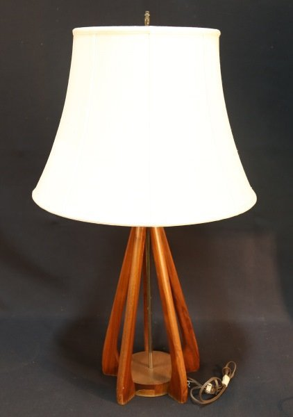 MID-CENTURY MODERN DANISH WOODEN LAMP
