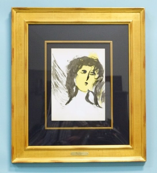 """MARC CHAGALL """"ANGEL"""" COLOR LITHOGRAPH"""