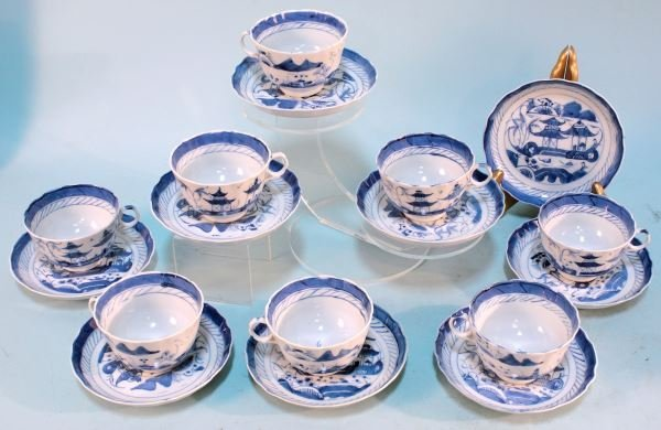 17-PIECE SET OF 19th CENTURY CHINESE PORCELAIN