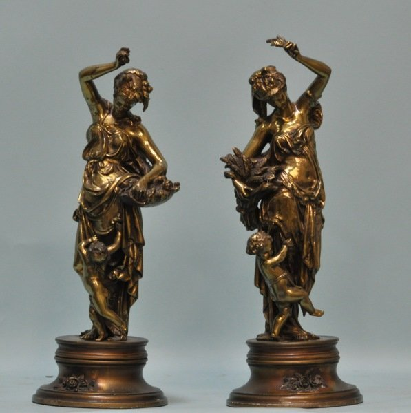 LOT OF TWO 19th CENTURY BRONZE SCULPTURES
