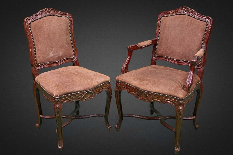SET OF FOUR BAKER FRENCH STYLE GAME CHAIRS