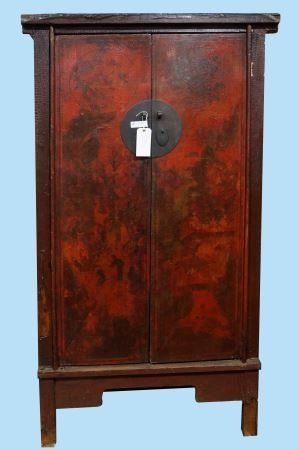 ANTIQUE CHINESE LACQUERED ARMOIRE