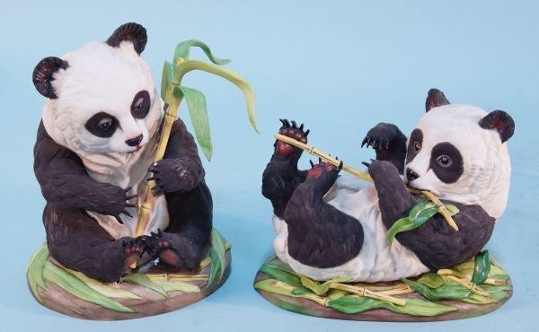 LOT OF TWO BOEHM PANDA CUB FIGURES