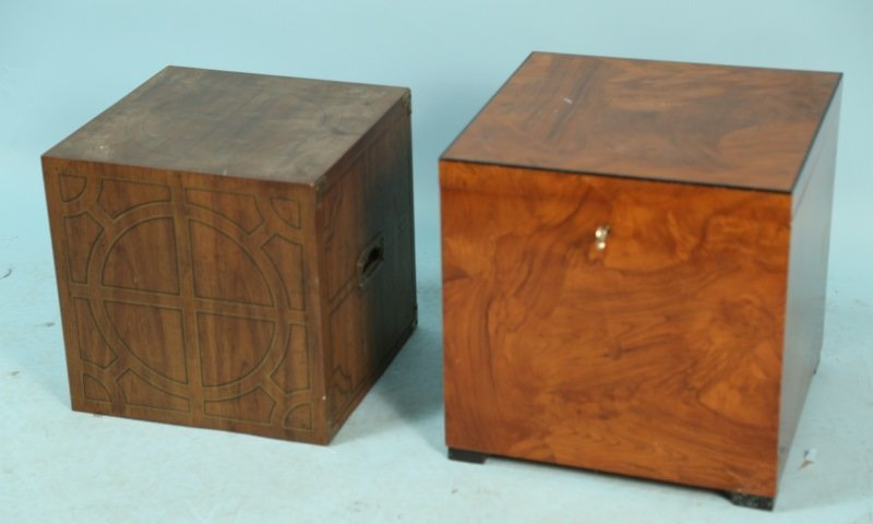 LOT OF TWO ITALIAN WOODEN BOXES