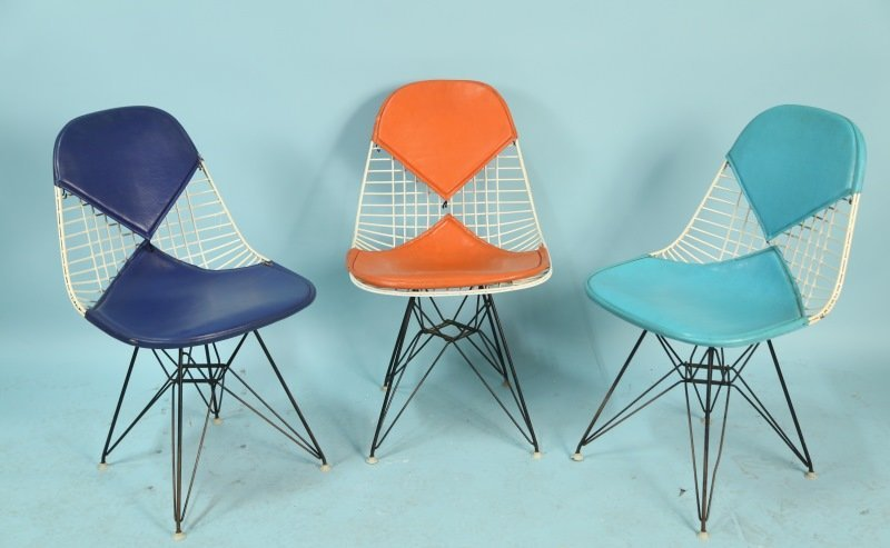 SET OF FOUR CHARLES EAMES FOR HERMAN MILLER DKR CHAIRS