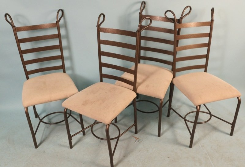 SET OF FOUR METAL CHAIRS
