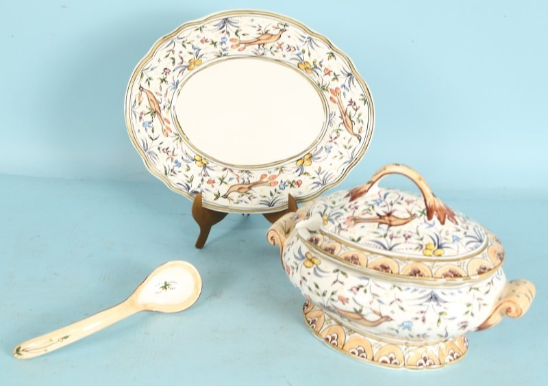 PORTUGUESE PORCELAIN SOUP TUREEN SET