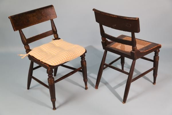 PAIR OF 19th CENTURY PAINTED AMERICAN FANCY CHAIRS