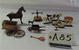 Mixed lot of farm toys