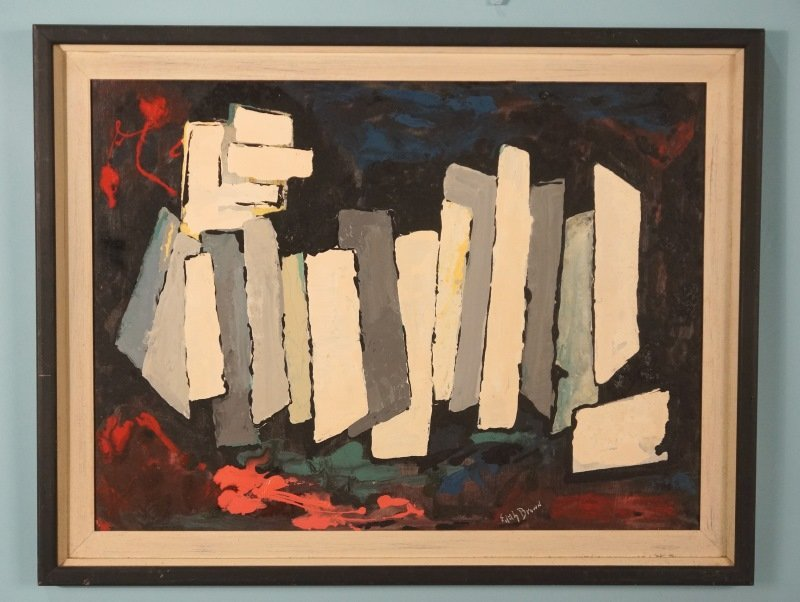 "EDITH BROWN ""ABSTRACT"" ACRYLIC ON CANVAS, 1970"