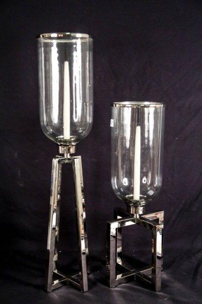 PAIR OF HURRICANE FLUTES BY HORCHOW