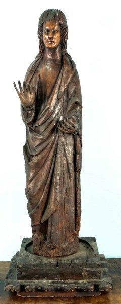 EARLY 16th CENTURY SPANISH MADONNA, CIRCA 1500