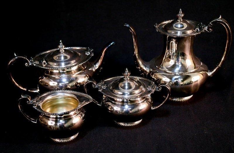 FOUR-PIECE SILVERPLATED TEA SET