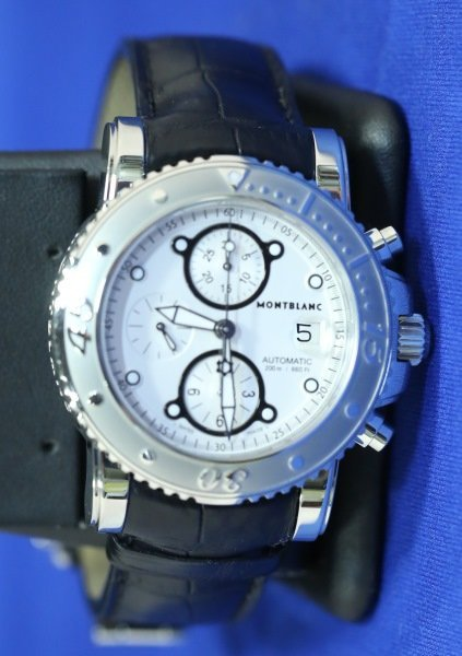 MONTBLANC STAINLESS STEEL SPORTS WATCH