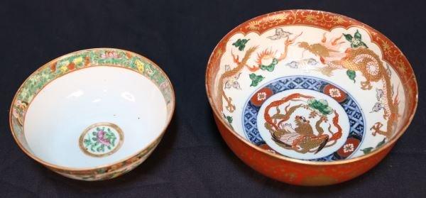 ANTIQUE IMARI & FAMILLE ROSE CHINESE BOWLS