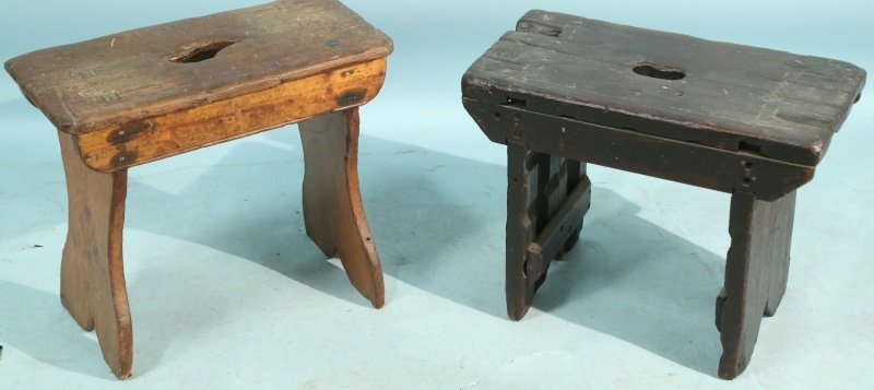 LOT OF TWO 18th CENTURY SPANISH CARVED BENCHES
