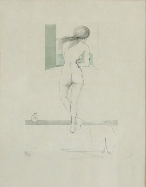 "SALVADOR DALI ""FEMALE NUDE"" COLOR ETCHING #5/100"