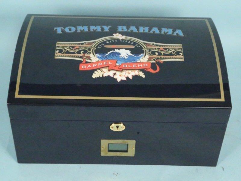 TOMMY BAHAMA HUMIDOR. With cigars.