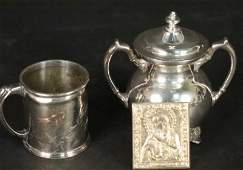 MIXED LOT OF THREE STERLING SILVER PIECES