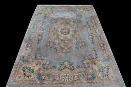 WELLPROPORTIONED HAND KNOTTED CHINESE RUG IN BLUE TONE