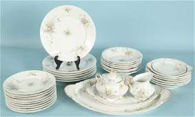 SET OF 34 MIXED PIECES OF THEODORE HAVILAND DINNERWARE