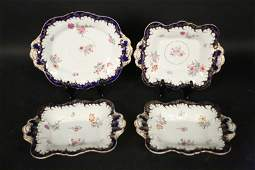 FOUR 19th C. SWEET MEAT MASON IRONSTONE DISHES