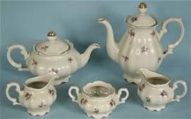 FIVE-PIECE BAVARIAN CHINA TEA SET