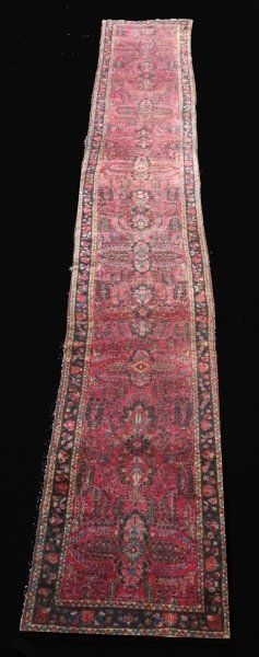 ANTIQUE HAND KNOTTED PERSIAN LILIAN SAROUK RUNNER
