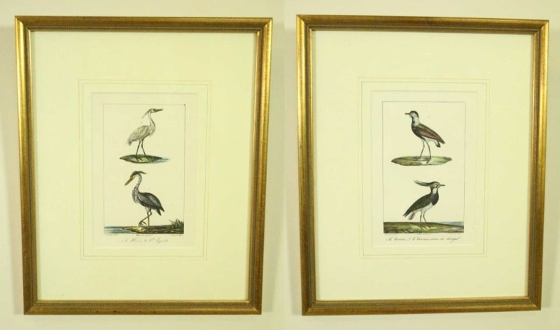 PAIR OF P. OUDART HAND COLORED LITHOGRAPHS