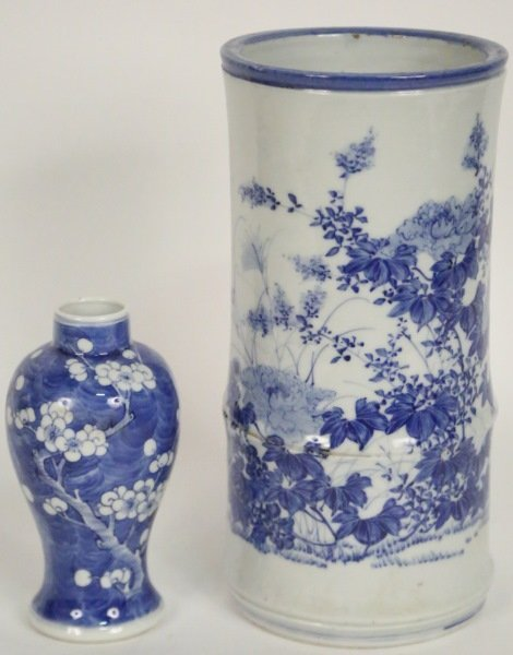 LOT OF TWO 19th CENTURY BLUE & WHITE CHINESE VASES