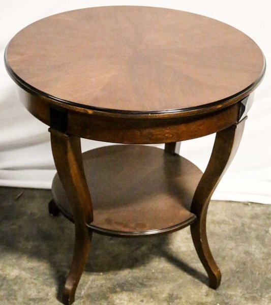ROUND BIEDERMEIER STYLE MAHOGANYTWO-TIER END TABLE
