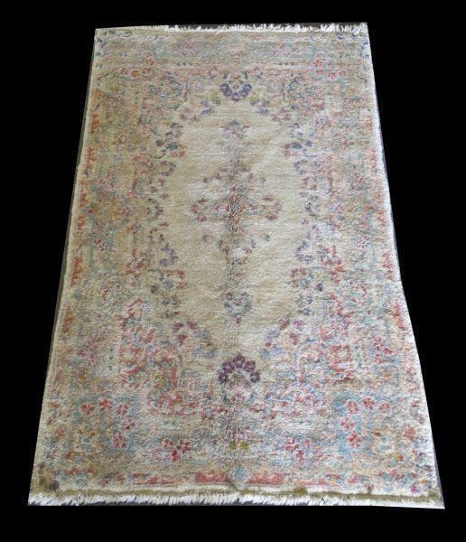 SEMI-ANTIQUE HAND KNOTTED PERSIAN KERMAN RUG