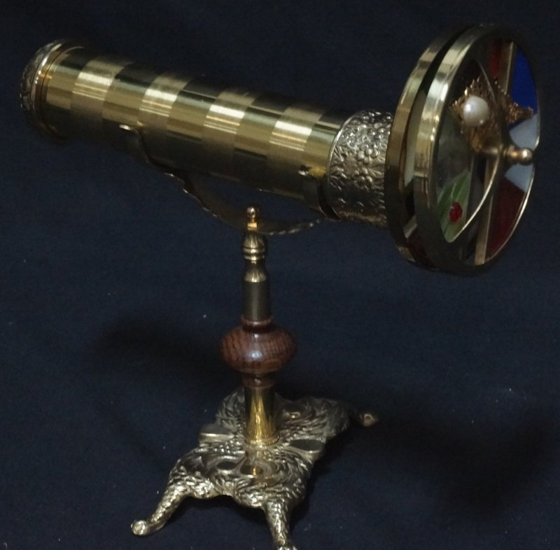 BRASS KALEIDOSCOPE WITH A BASE
