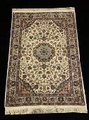HAND KNOTTED SILK  WOOL BLEND PERSIAN RUG