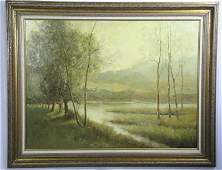 A. LORD OIL ON PANEL LANDSCAPE PAINTING