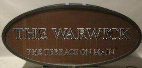 "Houston Icon ""the Warwick"" Sign"