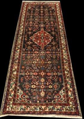 Hand Woven Wool Persian Mehraban Runner