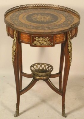 Circa 1900-1920 Italian Inlaid Gilt Bronze Table