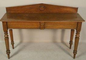 19th Century English Oak Console Table
