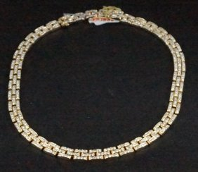 Cartier 18kt Gold 15 Ct Diamond Necklace