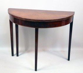 19th Century English Mahogany Flip Top Table