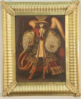 18th Century Harquebusier Angels Painting
