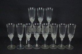 Set Of Eleven J. G. Durand Champagne Flutes