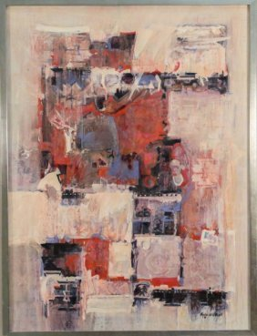 """Carole Myers """"southwestern Symbols"""" Acrylic"""